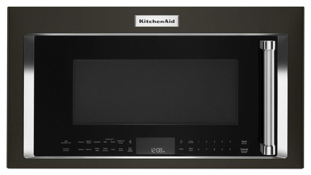 "KitchenAid30"" 1000-Watt Microwave Hood Combination With Convection Cooking - Black Stainless Steel With Printshield™ Finish"