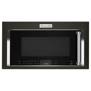 "30"" 1000-Watt Microwave Hood Combination with Convection Cooking - Black Stainless Steel with PrintShield™ Finish Product Image"