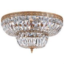 6 Light Clear Swarovski Strass Brass Ceiling Mount
