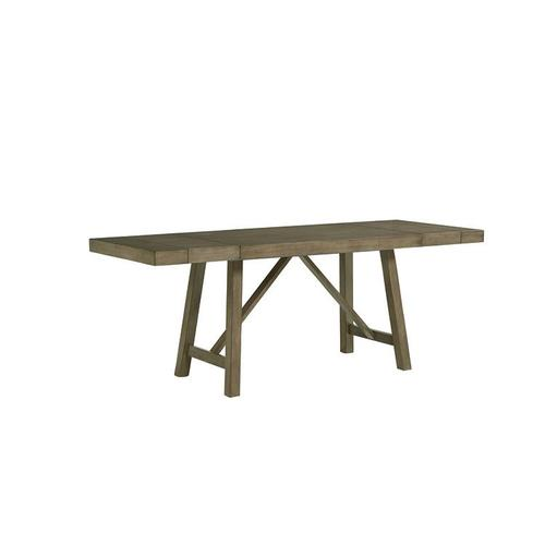 """Standard Furniture - Omaha Counter Height Table with two 13"""" Leaves, Grey"""