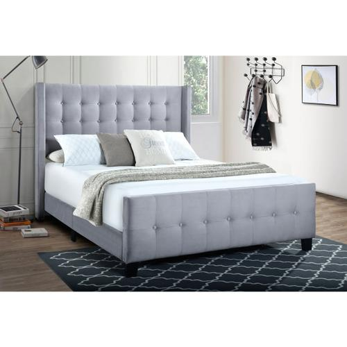 Accentrics Home - King Modern Wing Bed in Dove