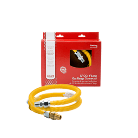 Smart Choice 4' Long 5/8'' Safety+PLUS® ProCoat Gas Connector