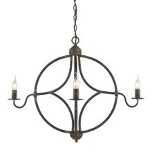 Caspian 4 Light Chandelier,Antique Black Iron