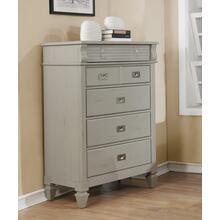 York 204 5 Drawers Antique Grey Chest