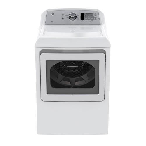 GE 7.4 Cu.Ft. Top Load Energy Star Gas Dryer White GTD65GBMKWS