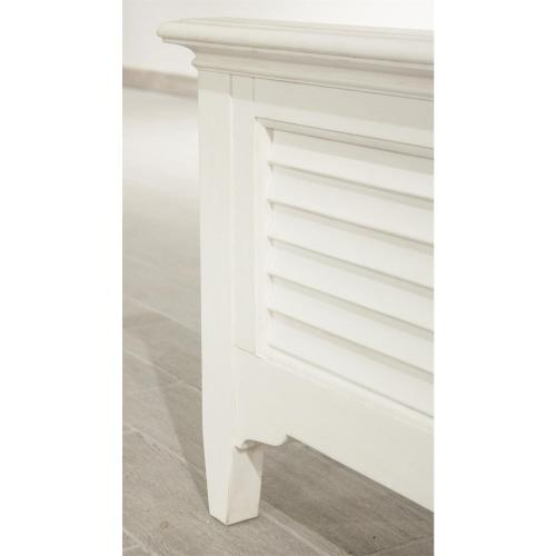 Myra - Queen Louver Footboard - Paperwhite Finish
