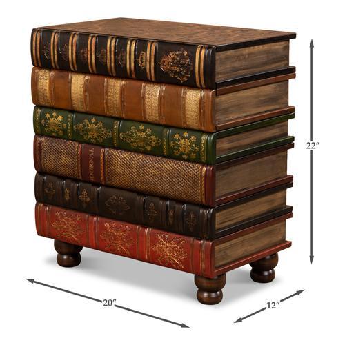 Florentine Books Chairside Chest