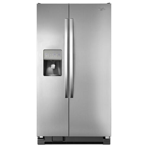 Whirlpool - 36-inch Wide Side-by-Side Refrigerator with Water Dispenser - 25 cu. ft.