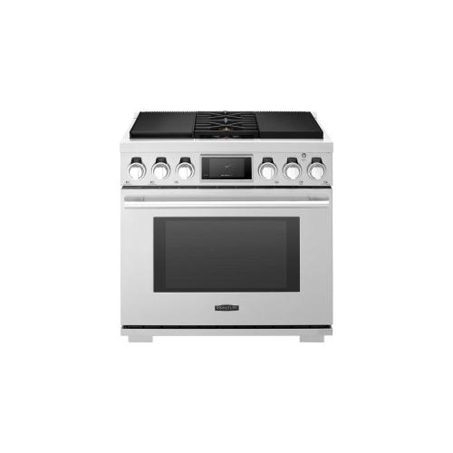 Signature Kitchen Suite - 36-inch Dual-Fuel Pro Range with Sous Vide and Induction