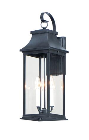 30024clbk In Black By Maxim Lighting In Alsip Il Vicksburg 3 Light Large Outdoor Wall Sconce