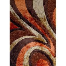 Designer Shag S.V.D. 26 Area Rug by Rug Factory Plus - 2' x 3' / Orange