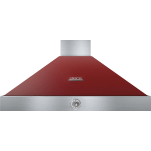 Hood DECO 48'' Red matte, Chrome 1 power blower, analog control, baffle filters