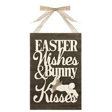 Easter Plaque - Easter Wishes & Bunny Kisses
