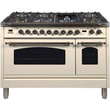 48 Inch Antique White Dual Fuel Liquid Propane Freestanding Range