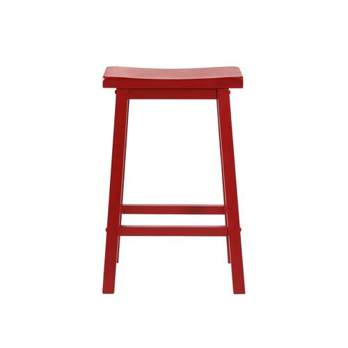 Saddle Seat Barstool, Crimson Red