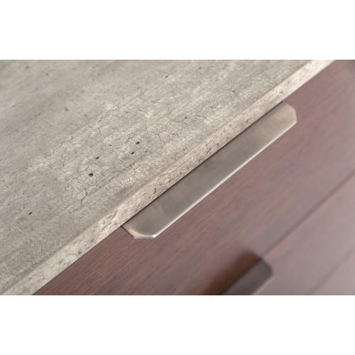 Nova Domus Conner Modern Dark Walnut & Faux Concrete Chest