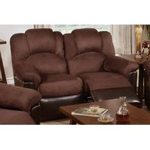 Izem Reclining/Motion Loveseat Sofa or Recliner, Chocolate-plush-micro-fiber, Motion-loveseat