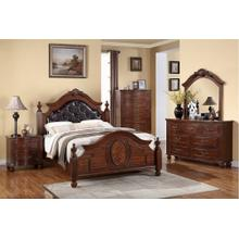 Mary Master Bed, Eastern-king, Leather-back
