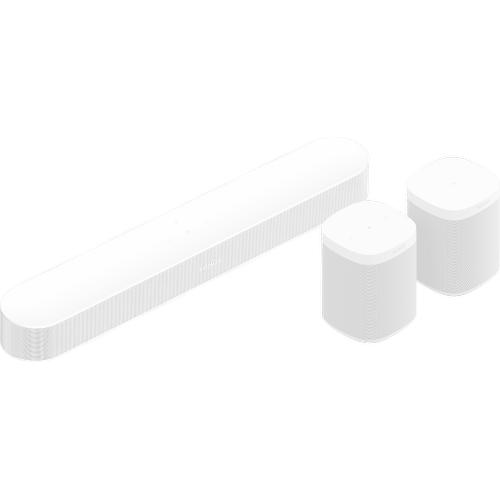 Sonos - White- Surround Set with Beam