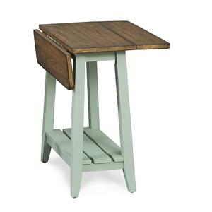 Null Furniture Inc - Drop Leaf End Mint Base / Pecan Top         (6618-14MP,52921)