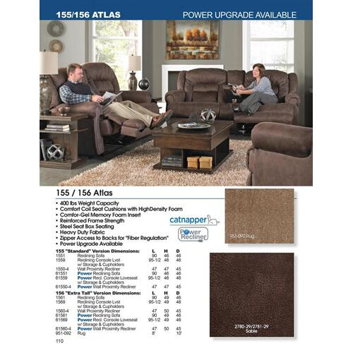 """Extra Tall"" Reclining Sofa"