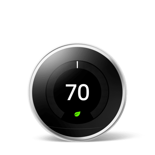 Nest Learning Thermostat 3rd Gen Polished Steel 1 Pack