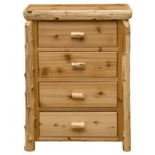 Four Drawer Chest - Natural Cedar - Premium