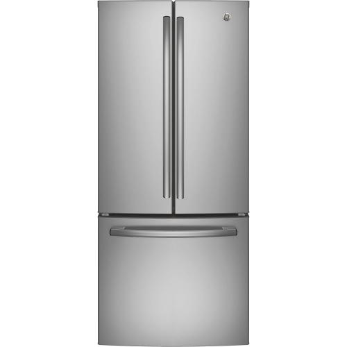 Bottom Mount Refrigerator 20.8 Cu. Ft. Stainless Steel GE - GNE21DSKSS