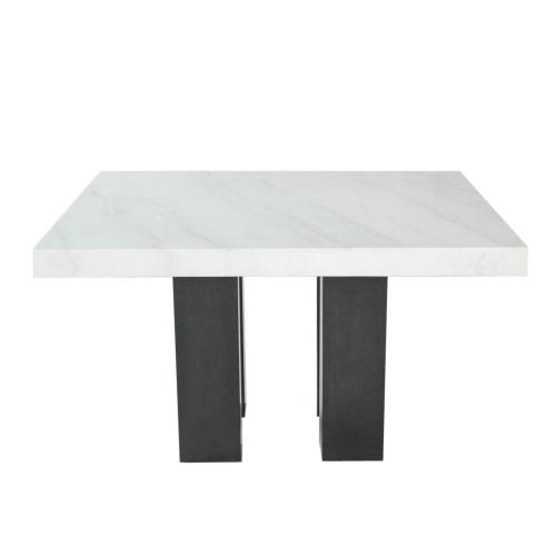 Camila 70-inch White Marble Top Counter Table