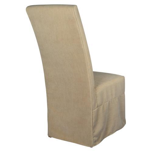 Long Parson Slip Cover-washable + Reversible Oatmeal