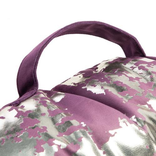 Rensia Round Floor Pillow - Purple / Silver