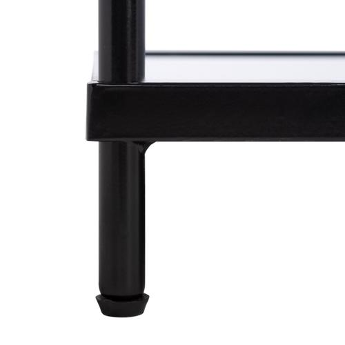 Safavieh - Cathal Glass and Mirror Coffee Table - Matte Black / Glass / Mirror