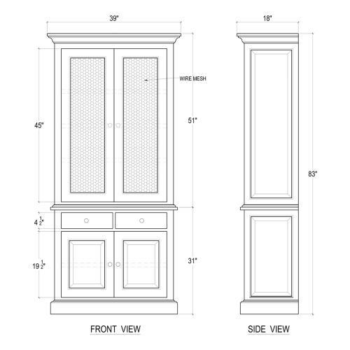 Cape Cod Cabinet w/ Doors