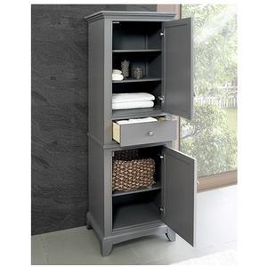 "Fairmont Designs - Smithfield 21"" Linen Tower - Medium Gray"
