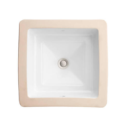 Dxv - Pop Square Under Counter Bathroom Sink - Canvas White