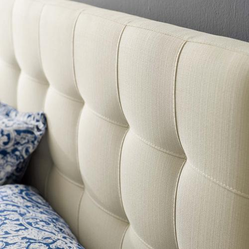 Modway - Lily King Upholstered Fabric Headboard in Ivory