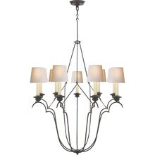 Visual Comfort CHC1403AI-NP E. F. Chapman Belvedere 9 Light 33 inch Aged Iron Chandelier Ceiling Light