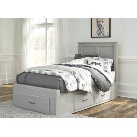 Arcella Twin Storage Bed Gray