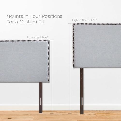 Modway - Region Nailhead Full Upholstered Headboard in Sky Gray