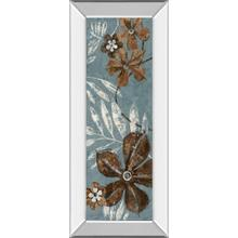 """Denim Garden I"" By Maria Donovan Mirror Framed Print Wall Art"