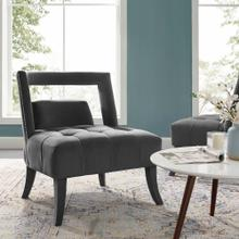 Honor Accent Lounge Performance Velvet Armchair in Gray