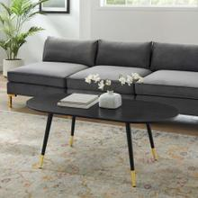 Vigor Oval Coffee Table in Black