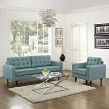 Empress Armchair and Sofa Set of 2 in Laguna