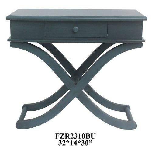 """Product Image - 32X14X30"""", BLUE WOOD TABLE, 1 PACK, 3.75' (KD)"""