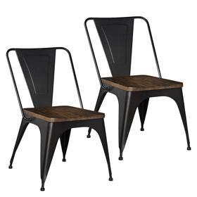 Nelson Brown Metal Side Chair