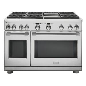 "MonogramMonogram 48"" All Gas Professional Range with 6 Burners and Griddle (Natural Gas)"