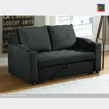 Sofa W. Pull Out Bed Dark Grey