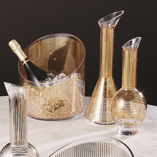 Gold Stripe Wine Decanter-Cone