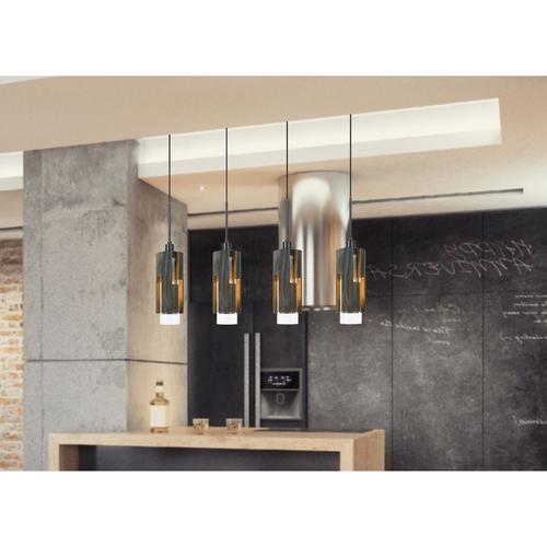 Cal Lighting & Accessories - 60W X 4 Reggio Wood Pendant Glass Fixture (Edison Bulbs Not included)
