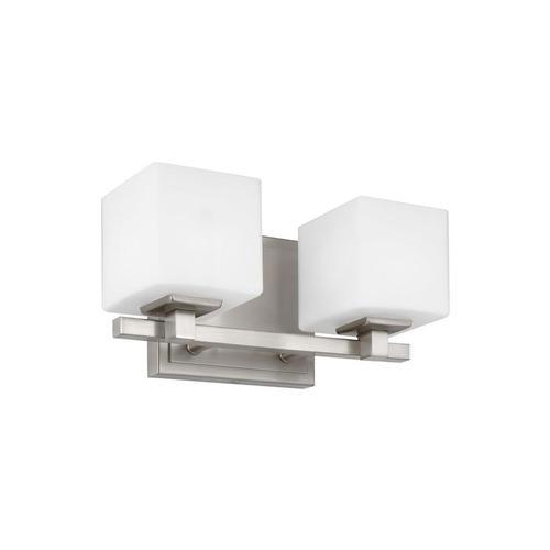 Sutton 2 - Light LED Vanity Satin Nickel Bulbs Inc